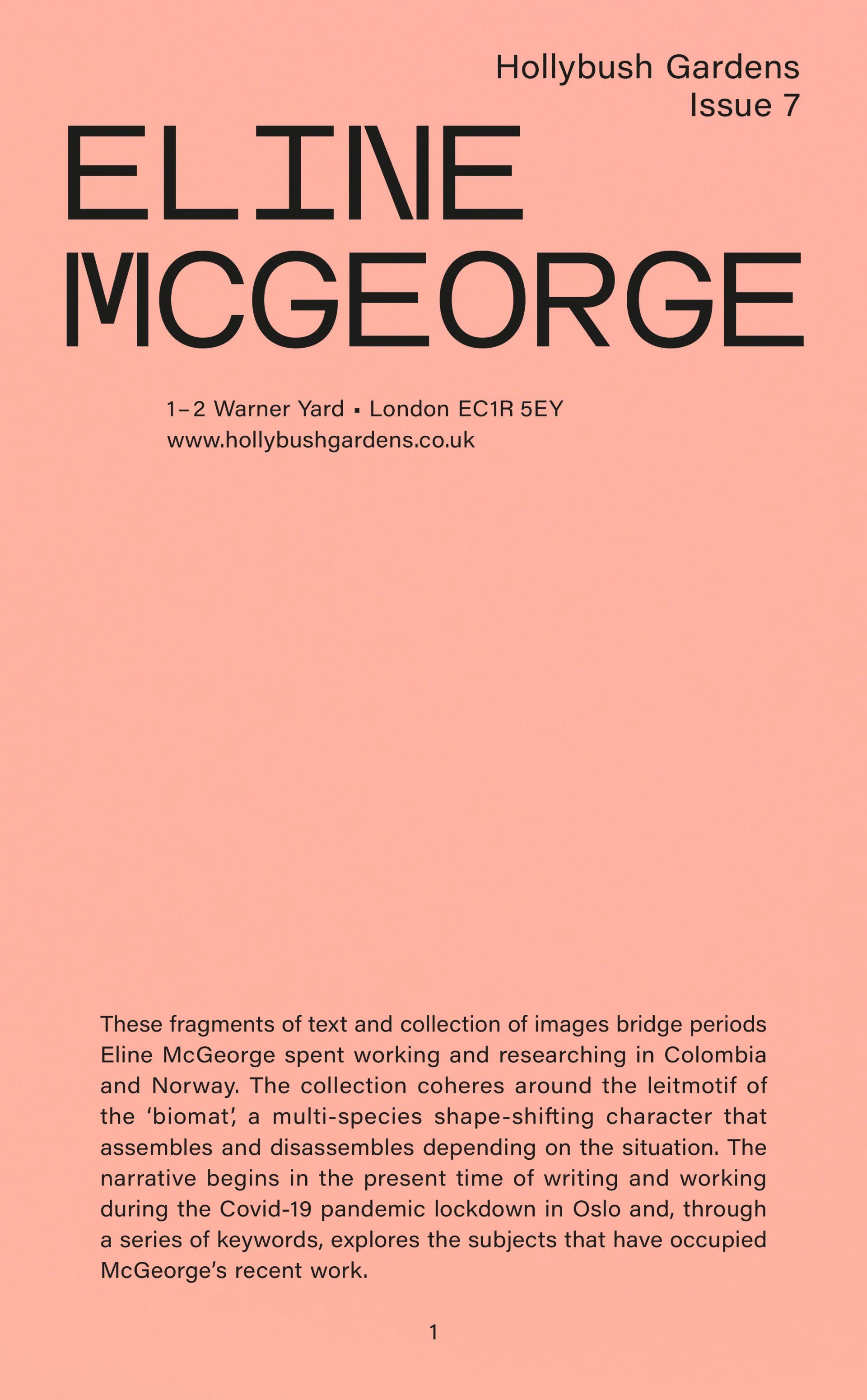 Hollybush Issue 7: Eline McGeorge