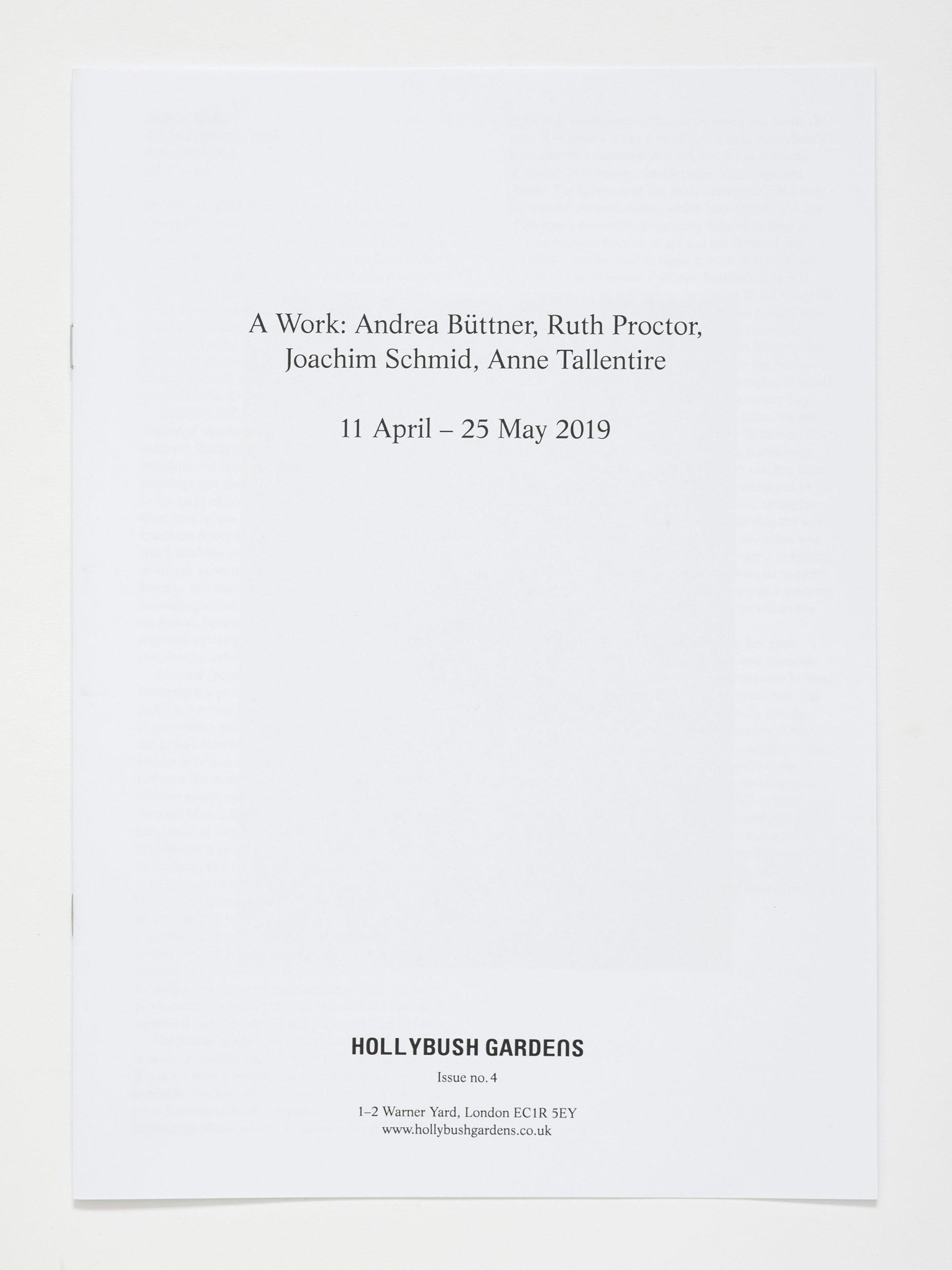 Hollybush Issue 4: A Work