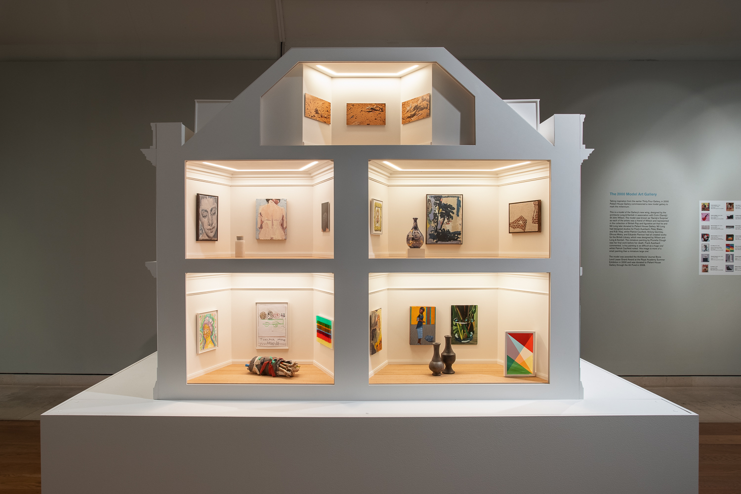 Lubaina Himid in 'Masterpieces in Miniature: The 2021 Model Art Gallery', Pallant House Gallery, 26 June 2021 – Spring 2022