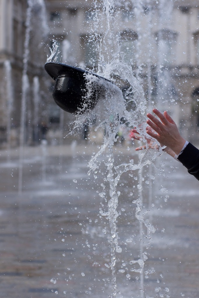 Public Hat Fountain  Somerset House